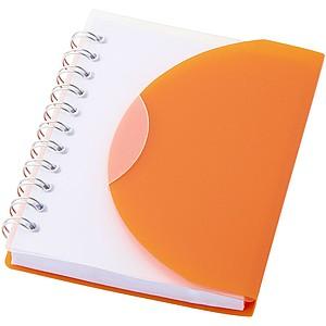 MALON Poznámkový blok se spirálou a transparentním přebalem, oranžová