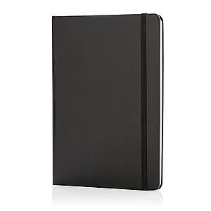 Základní poznámkový blok A5 spevnými deskami, černá