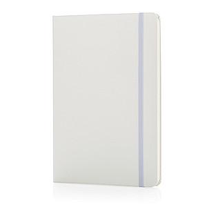 Základní poznámkový blok A5 spevnými deskami, bílá