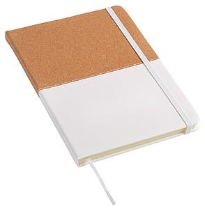 Zápisník vel. A5, tečkovaný papír, potah hnědo bílý