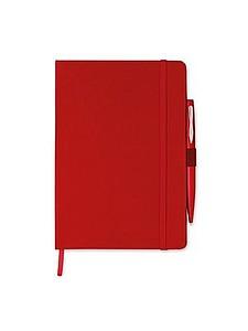 Zápisník A5 s kuličkovým perem, červená