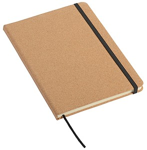 Zápisník velikosti A5, linkovaný, potah korkový