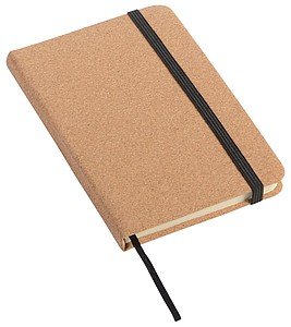 Zápisník velikosti A6, linkovaný, potah korkový