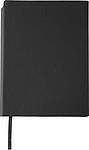 NAVARO Zápisník s místem pro tužku, záložkou a 80 linkovanými stranami, černý