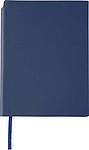 NAVARO Zápisník s místem pro tužku, záložkou a 80 linkovanými stranami, modrý - reklamní bloky