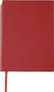 NAVARO Zápisník s místem pro tužku, záložkou a 80 linkovanými stranami, červený - reklamní bloky