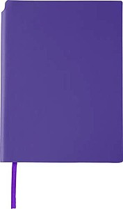 NAVARO Zápisník s místem pro tužku, záložkou a 80 linkovanými stranami, fialový - reklamní bloky