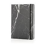 MARBLE Luxusní mramorovaný poznámkový blok A5, černá