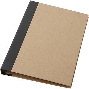 Blok v recyklovaných deskách, béžová, černá