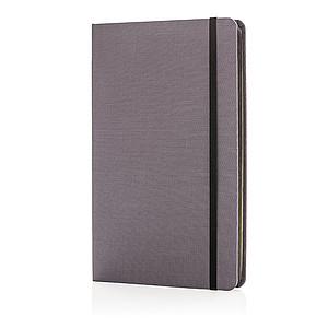 Luxusní látkový poznámkový blok sbarevnými okraji, černá
