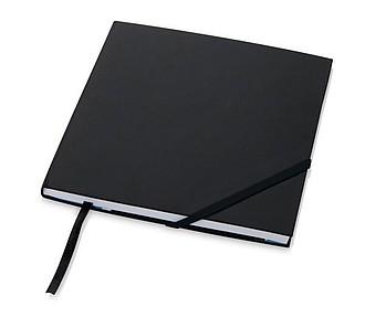 Čtvercový poznámkový blok, 80 listů, černá
