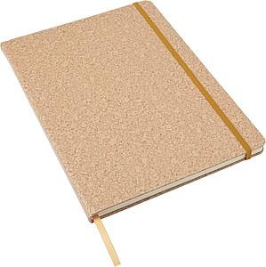 TAVAR Zápisník A4 s 96 linkovanými stranami, zavírání na gumičku