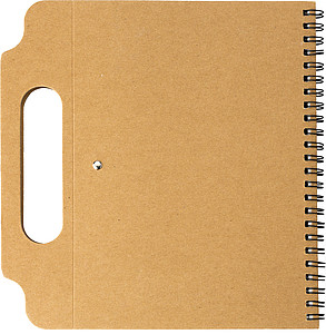 Kartónový zápisník s lepícími lístky