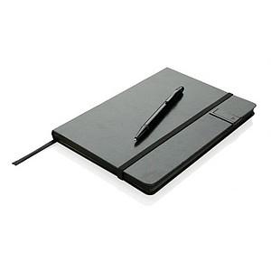 JANERA Luxusní poznámkový blok s8GB USB úložištěm a stylusovým perem, černá