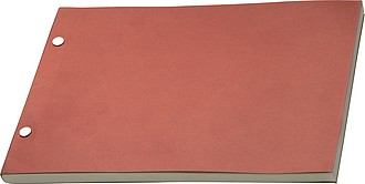 Nelinkovaný zápisník, červené papírové desky