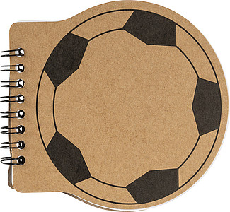 Zápisník s kroužkovou vazbou, tvar míče