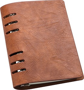 PODAK Zápisník A6 s kroužkovou vazbou v obalu z umělé kůže - reklamní bloky