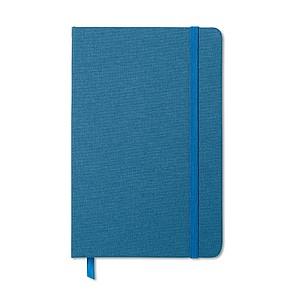 Dvoubarevný zápisník, linkovaný, kapsa na zadní straně, královská modrá