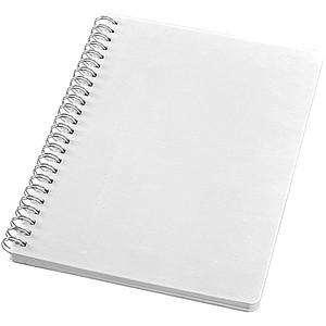 Zápisník s přebalem a spirálou, velikost L, bílá