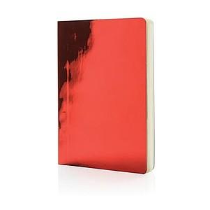 Metalický poznámkový blok Deluxe A5, červený