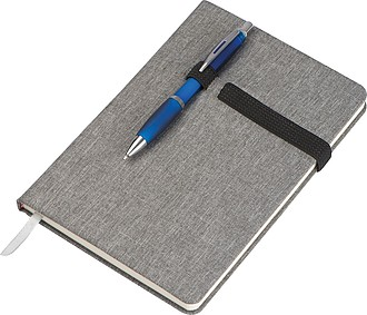 KASEL Čtverečkovaný zápisník velikosti A5 se záložkou a gumičkou - reklamní bloky