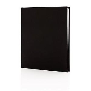 Luxusní zápisník s textilním potahem 170x200 mm, černá