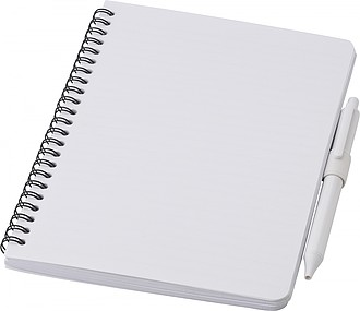 Antibaktriální zápisník A5 s perem, bílá