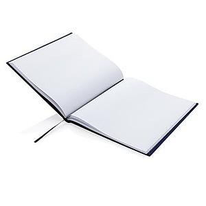 Luxusní zápisník s textilním potahem 210x240 mm, modrá