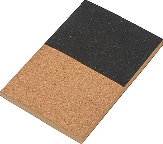 Poznámkový blok A5 z korku ,černá