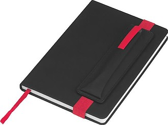 Zápisník A5 s barevnými doplňky,červená