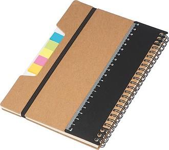 Spirálový zápisník,hnědá