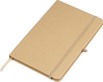 Zápisník A6 s papírovým obalem,hnědá