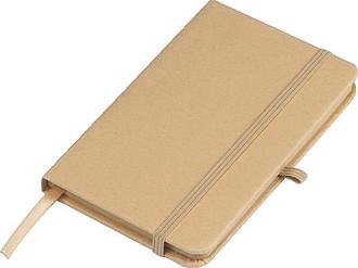 Zápisník A5 s papírovým obalem,hnědá