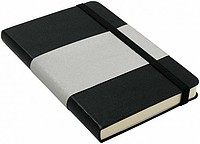 MARINOL A6 Zápisník A6 se záložkou, 96 stran, černý