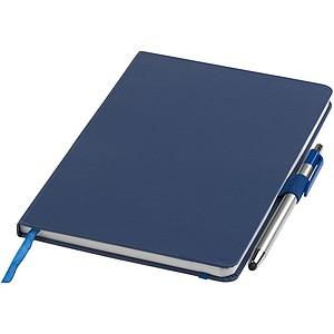 Blok A5 s kuličkovým perem, modrý