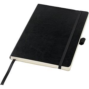 A5 Zápisník z PU kůže, černá