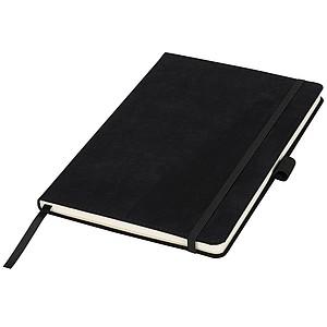 A5 semišový zápisník, černá