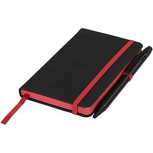 Zápisník Small noir edge, černá/červená