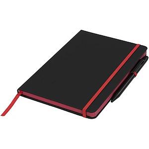 Zápisník Medium noir edge, černá/červená
