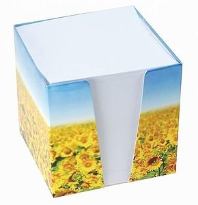 Papírová kostka s plnobarevným potiskem krabičky