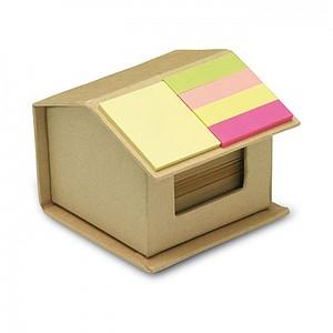HAUS Sada barevných samolepících bločků v obalu ve tvaru domečku