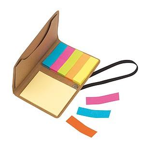 Sada barevných lepících lístků, zavírání na gumičku