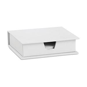 MEMOKIT Zásobník na papíry s lepící bločky, bílá