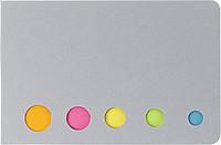 MARKYTKA Sada lepících lístků v kartónovém obalu, stříbrná - reklamní bloky