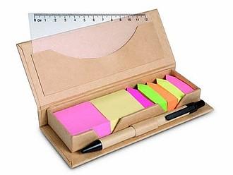 Sada samolepících štítků, KP a pravítka v kartonové krabičce