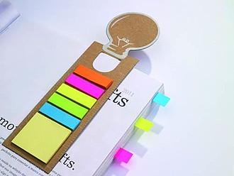 IDEA Samolepící barevné lístky na papírové záložce