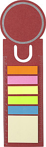 OVALNOTE Záložka se značkovači, červená - reklamní bloky