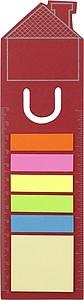 HOUSENOTE Záložka se značkovači, dům, červená