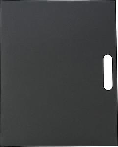 CAPKO Kartonová sloha s blokem, kuličkovým perem a značkovacími lístky, černá - reklamní bloky