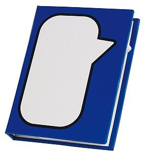 BUBO Bloček se značkovači a lístky na poznámky, modrý
